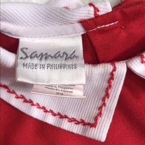 Samara Dresses - Samara girls Sz 24 M red smocked bishop dress EUC